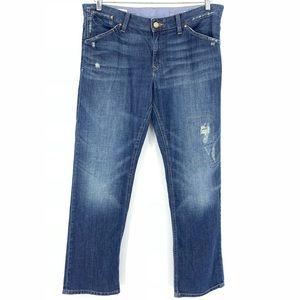 Gap 1969 Easy Straight Distressed Denim Jeans